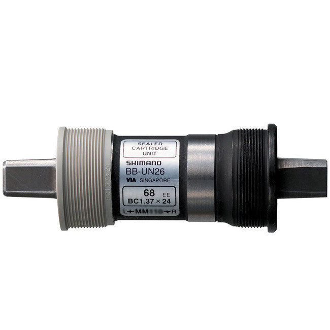 Boitier de pédalier BB-UN26-E Axe:122.5mm BSA: 68mm