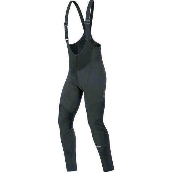 Bib Gore C3 Windstopper Bib tights+ Femme Medium Noir