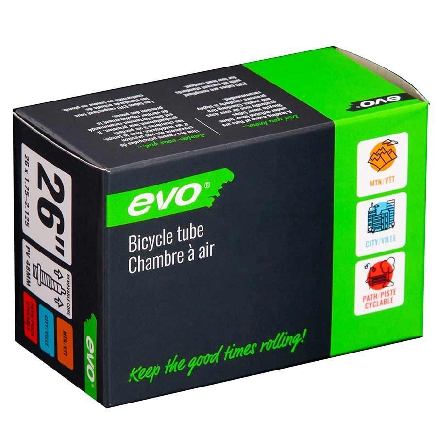 EVO Bicycle Tube Presta 48mm Valve 26'' 1.75-2.125
