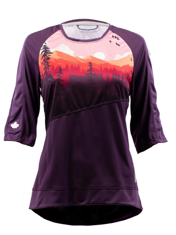 Craft Wild Places Woman 3/4 Jersey Purple