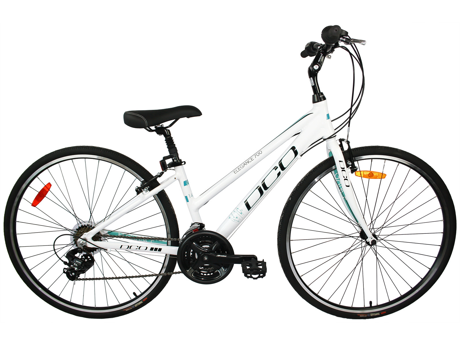 DCO elegance 700 Low Step Woman Bike 2020 White/Turquoise