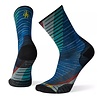 Bas Smartwool PhD Run Ultra Light Print Crew Bleu Brillant