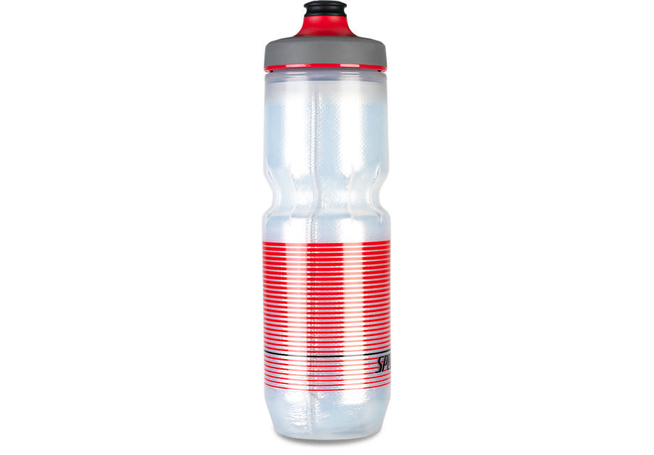 Bouteille Specialized Purist Isolé Chromatek WaterGate 23oz Noir/Rouge Transparent