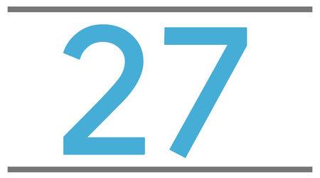 27.5 pouces