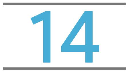 14 pouces