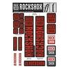 Autocollants RockShox 35mm 2018 Rouge
