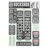 Autocollants  RockShox 35mm 2018 Gris