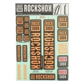 Autocollants RockShox 35mm 2018 Orange