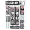 Autocollants RockShox 35mm 2018 Blanc