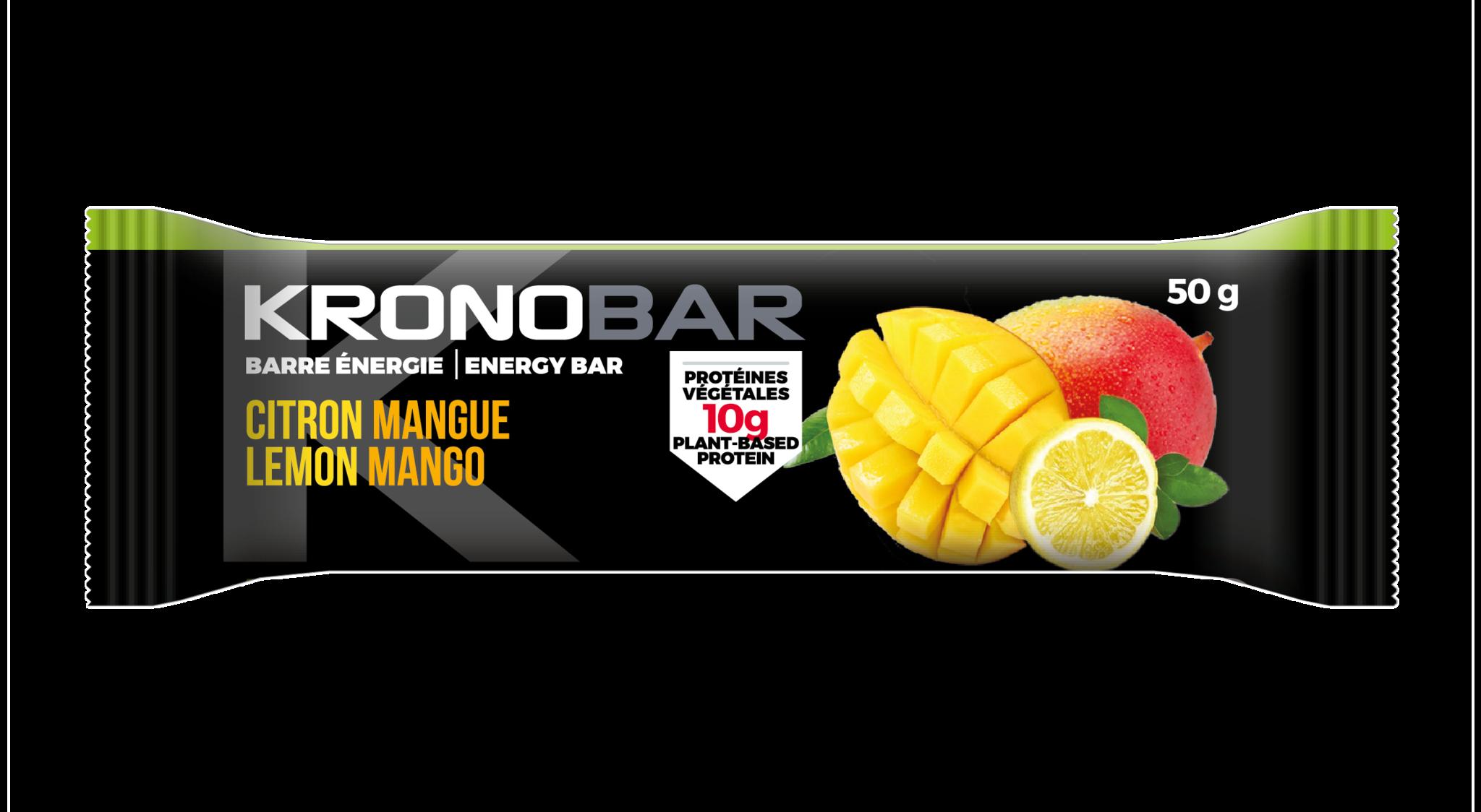 Barre endurance Kronobar Citron/Mangue 50g