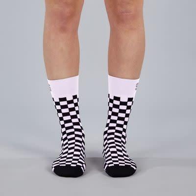 Bas Sportful Checkmate Femme  Blanc/Noir