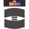 Bandes réfléchissantes pour roue Shiok! Noir