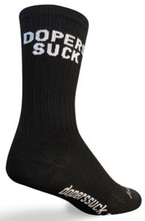 Bas SockGuy 6 PO SGX Dopers Suck Noir/Blanc