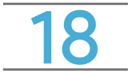 18 pouces