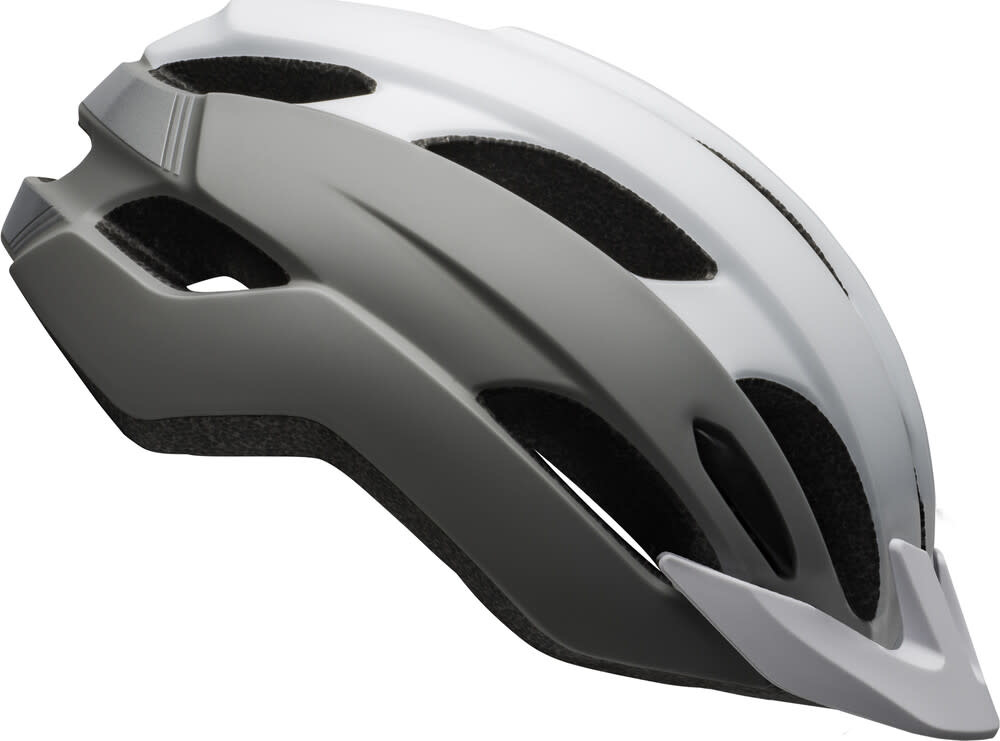 Casque Bell Trace Blanc/Argent