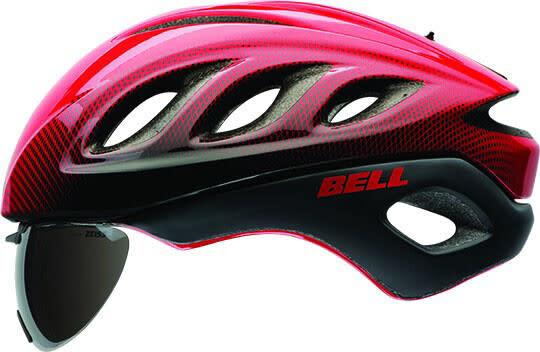 Casque Bell Star Pro Shield Rouge/Argent Blur Medium