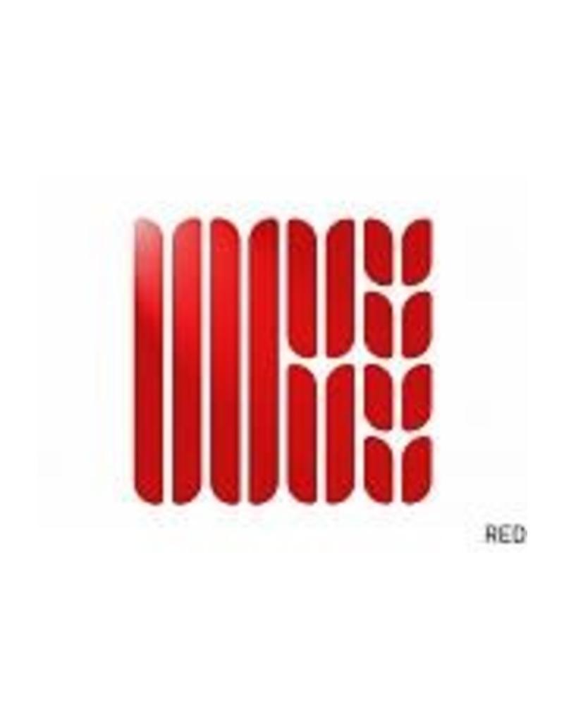Flectr Ensemble de réflecteurs de cadre Rouge