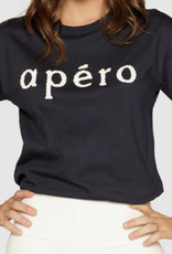 Apero Apero Beaded Tee Navy /White