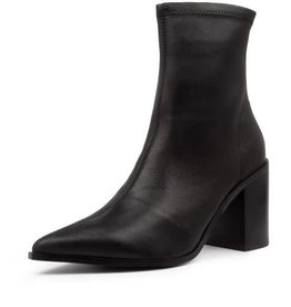 Nude Shoes Saylor Black Stretch Leather Boot