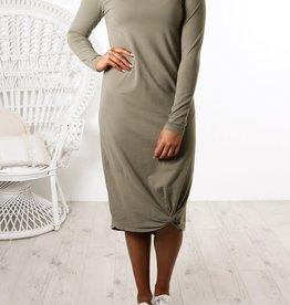 Silent Theory L/S Twisted Maxi Dress