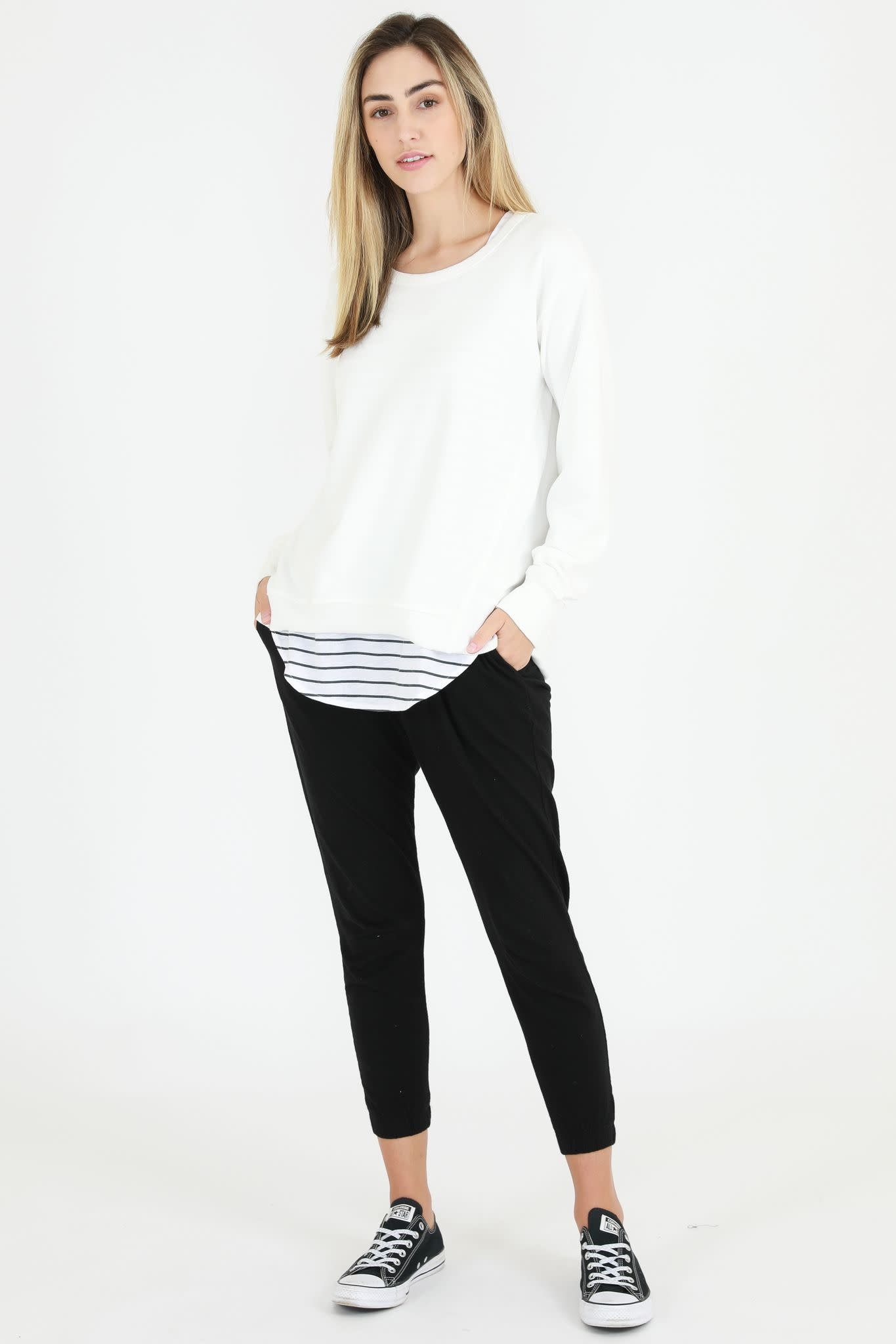 3rd Story Newhaven Sweater White