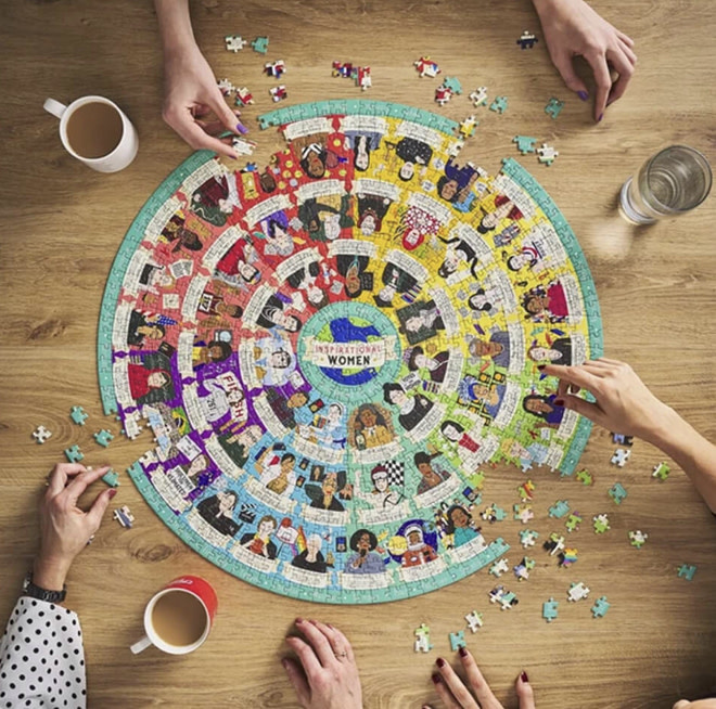 Wild & Wolf Inspirational Womes Jigsaw Puzzle