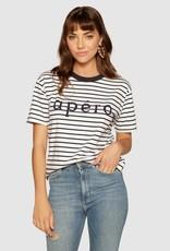 Apero Apero Stripe Beaded Tee Navy / White