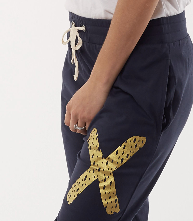 Elm Criss Cross Pant navy