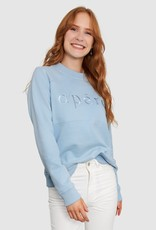 Apero Apero Embroidered Panel Jumper Sky Blue