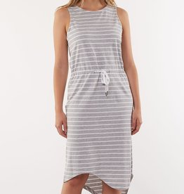 Silent Theory Waisted Midi Dress Stripe
