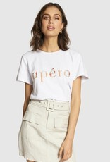 Apero Marble Embroidered Femme Tee White/Multi
