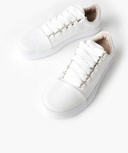Walnut Harris Sneaker Canvas White