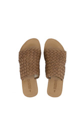 Human Shoes Eaton Tan Slide