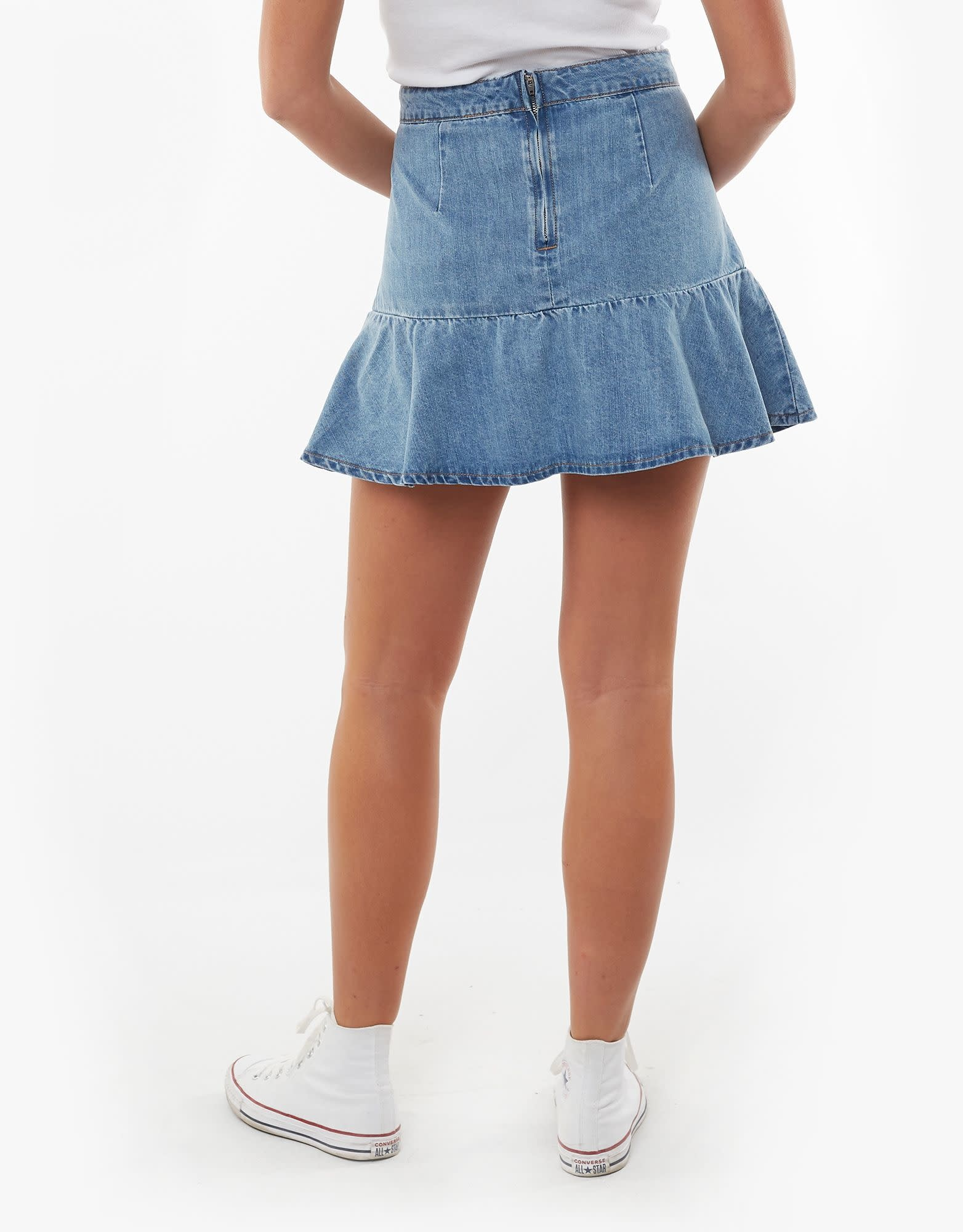 All About Eve Havana Flippy Denim Skirt