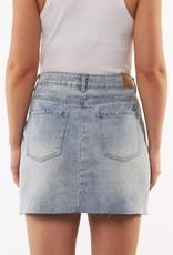 All About Eve Shea Split Denim Skirt