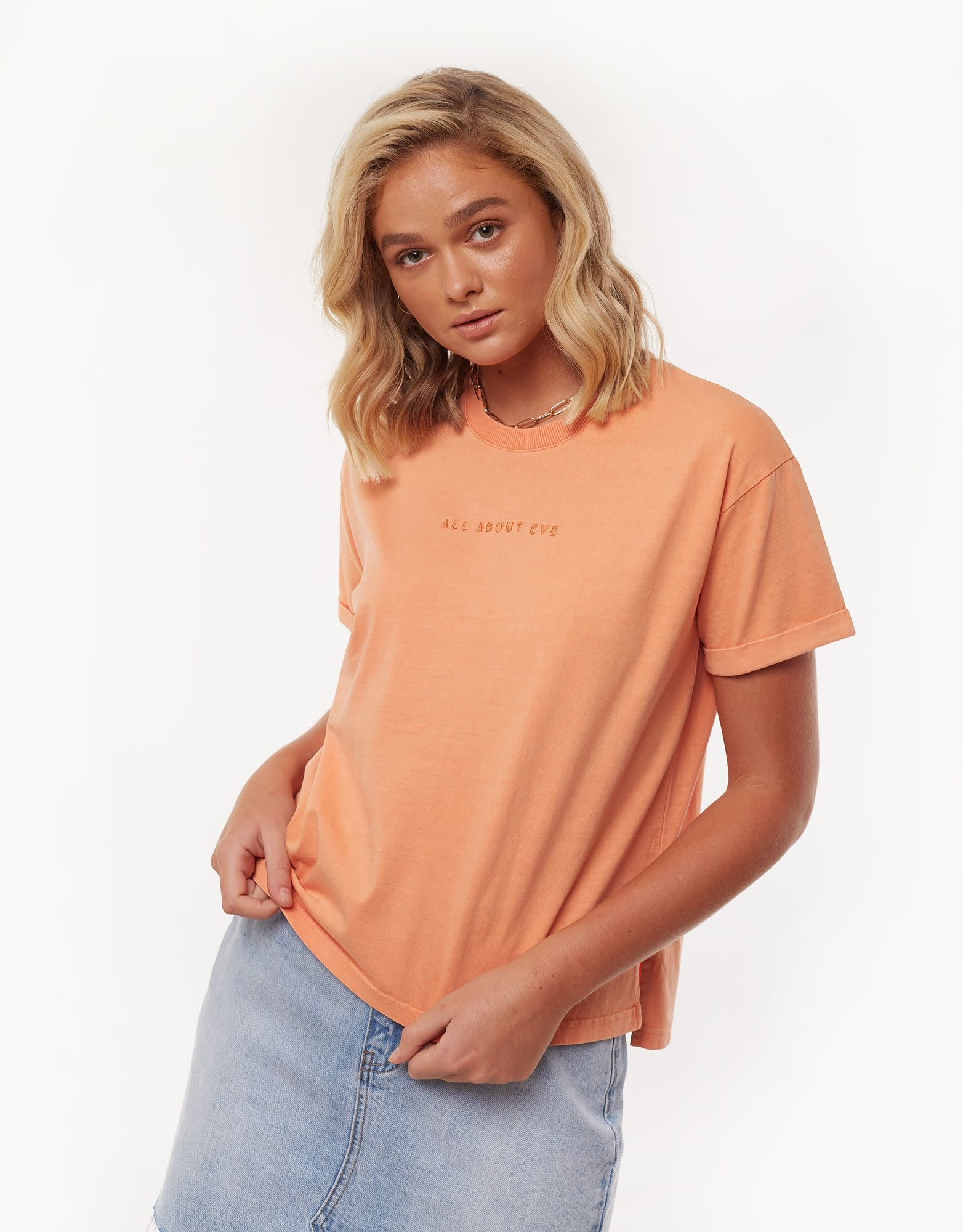 All About Eve Washed Tee AAE Peach