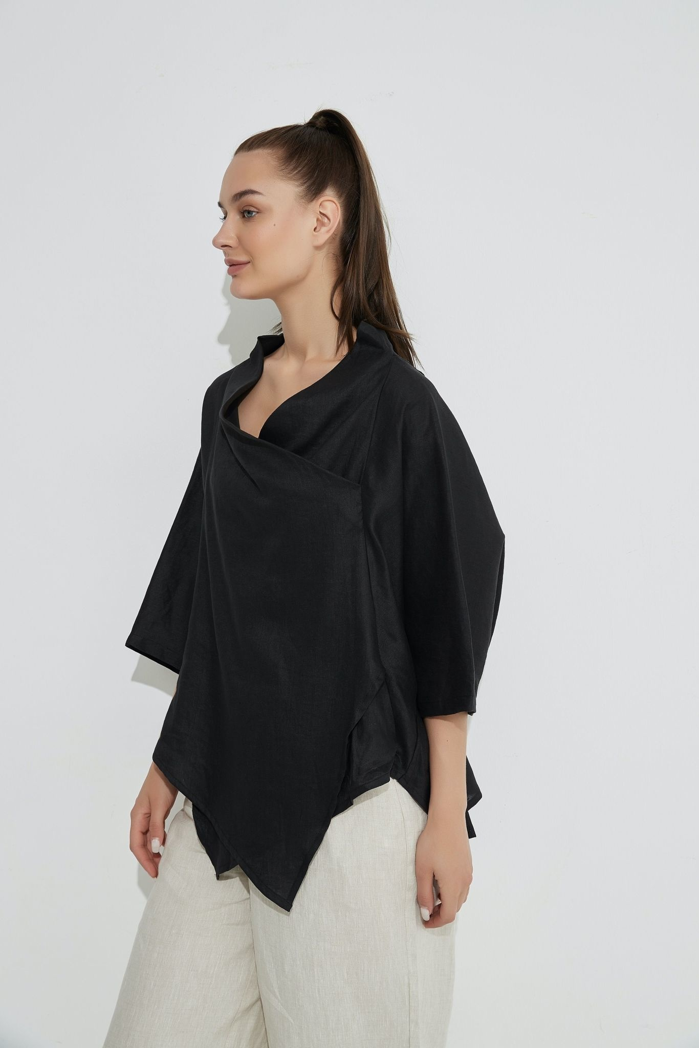 Tirelli Cowl Neck Top