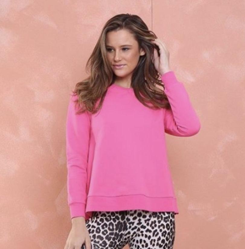 Amanda Hot Pink Crew