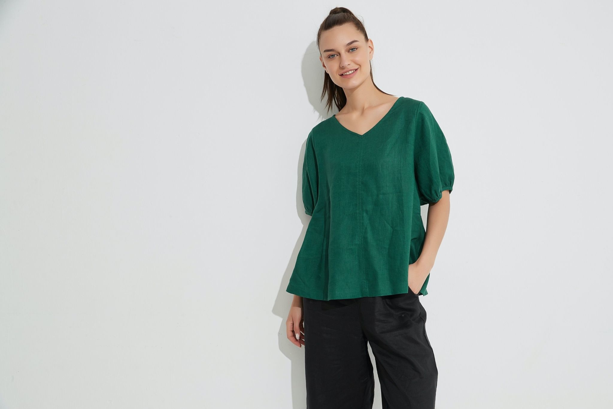Tirelli Bishop Sleeve Top