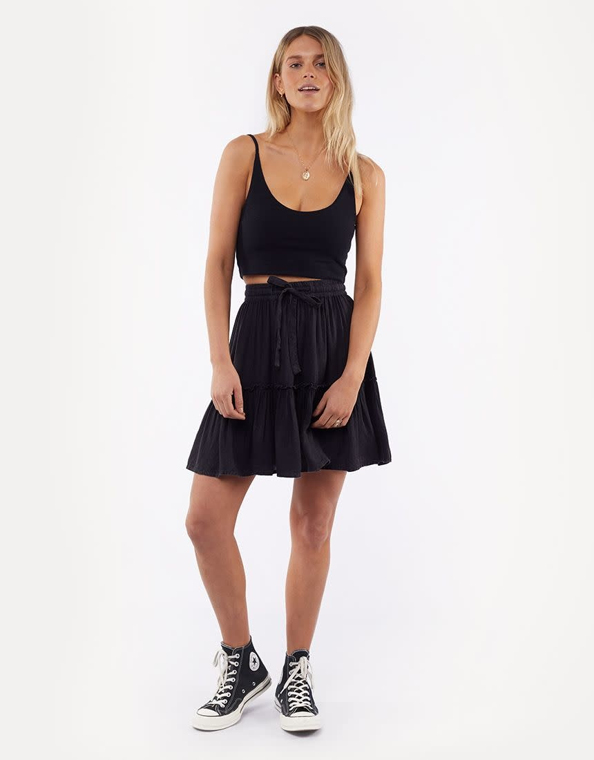 All About Eve Supple washed Skirt Black