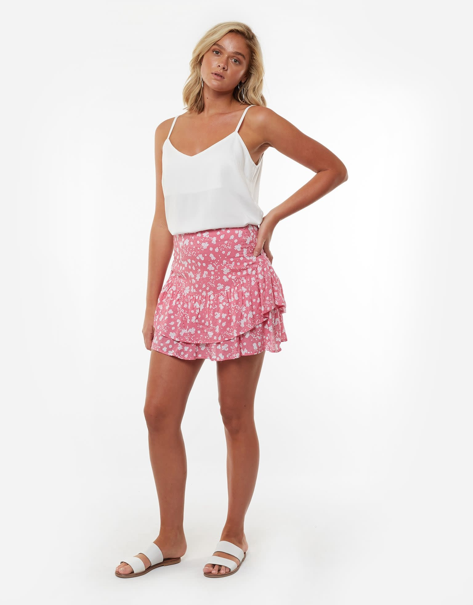 All About Eve Abstract Ditsy Midi Skirt