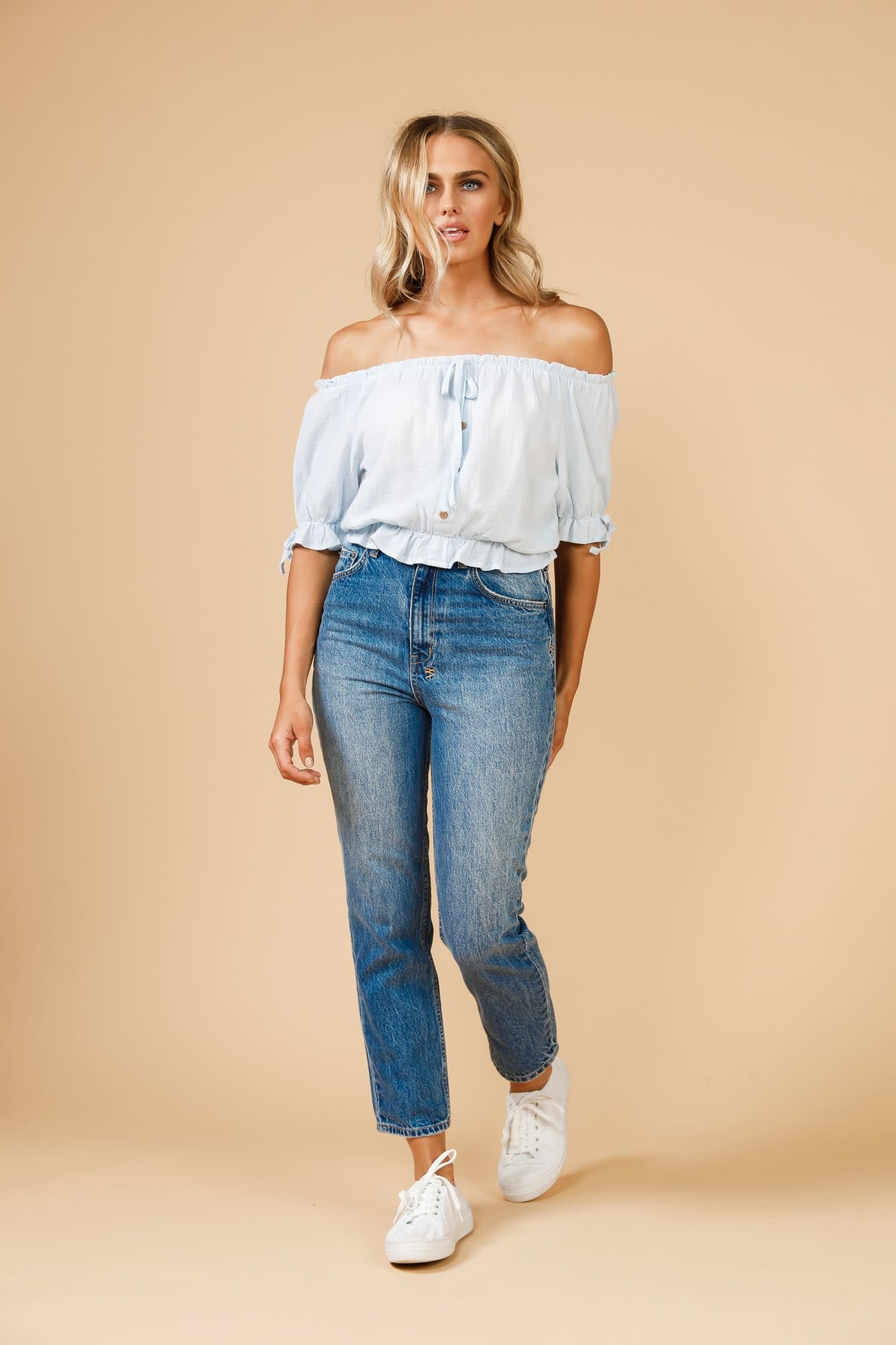 Daisy Says Copacabana Peasant Top