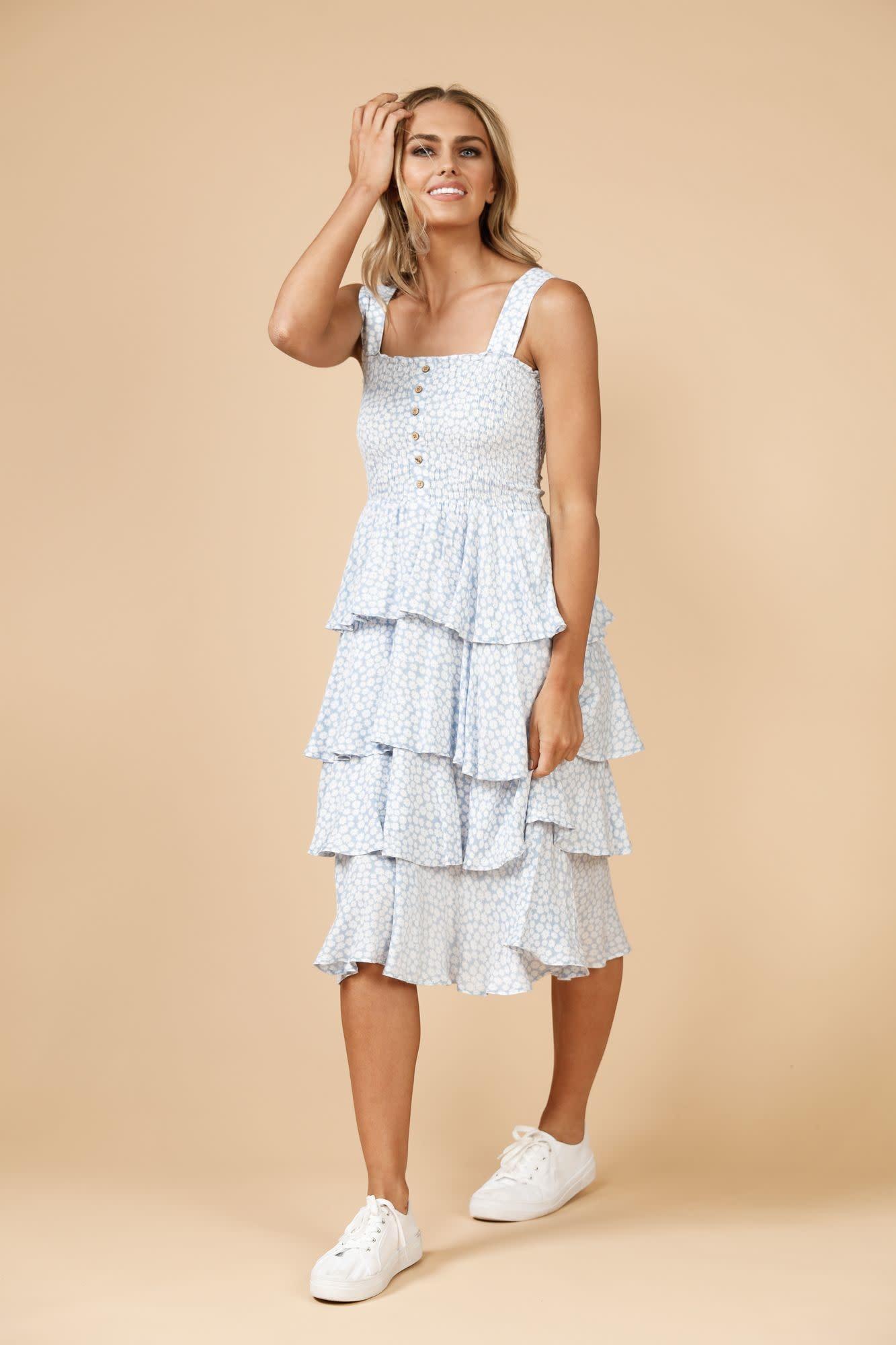 Daisy Says Copacabana Ruffle Dress