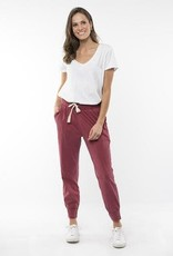 Elm Wash Out Pant Berry Red