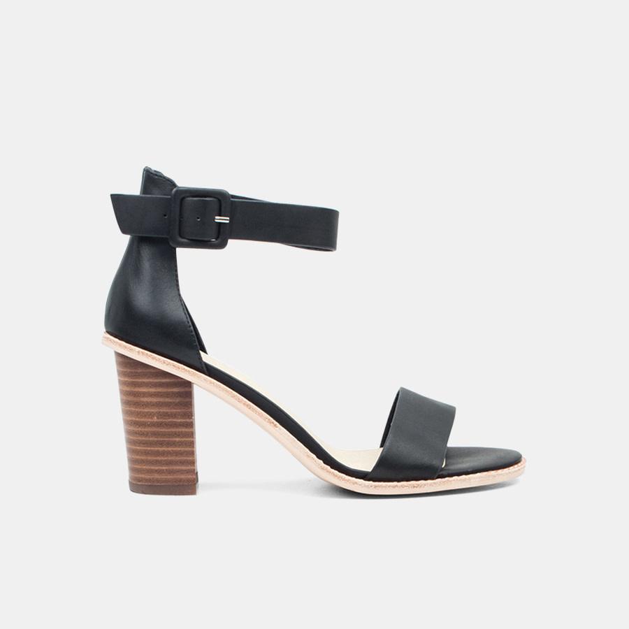 Nude Shoes Grady Heel Black