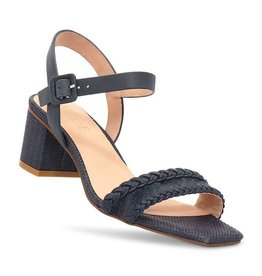 Nude Shoes Jezabel Heel Navy Raffia