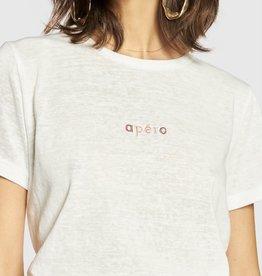 Apero Mini Embroidered Femme Tee White/Multi