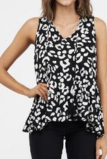 Black Leopard Top