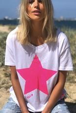 Cat Hammill Pink Star V Tee