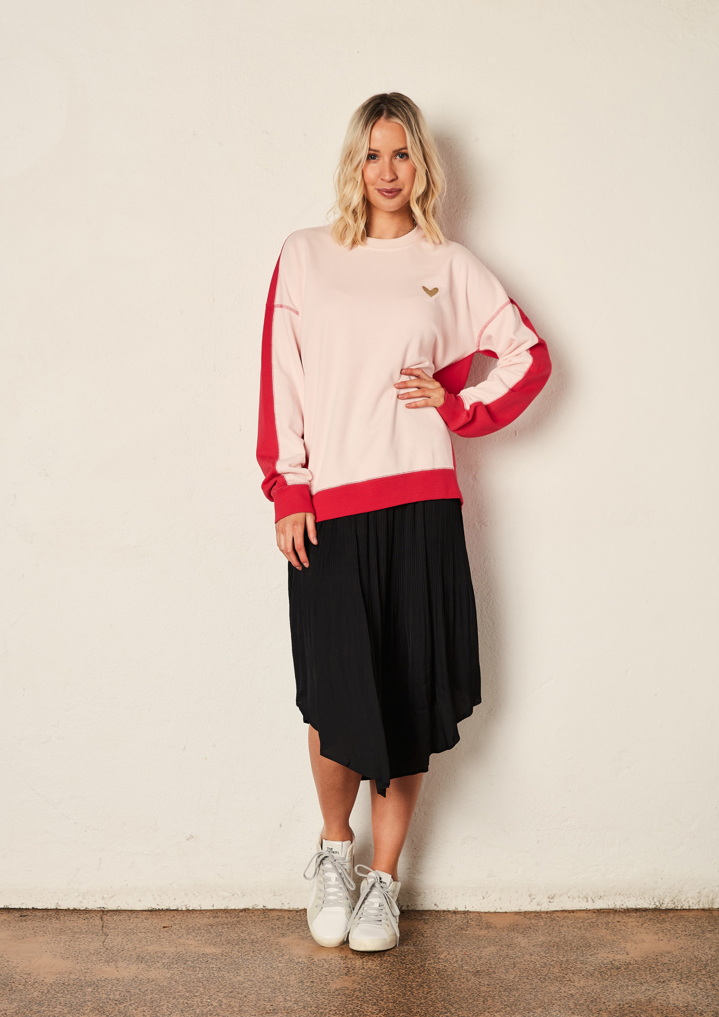 The Others Zip Back Sweat Pink